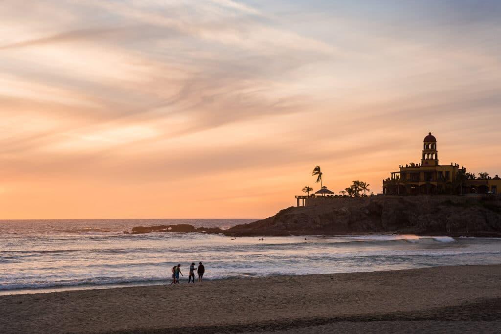 Cerritos Beach at sunset.