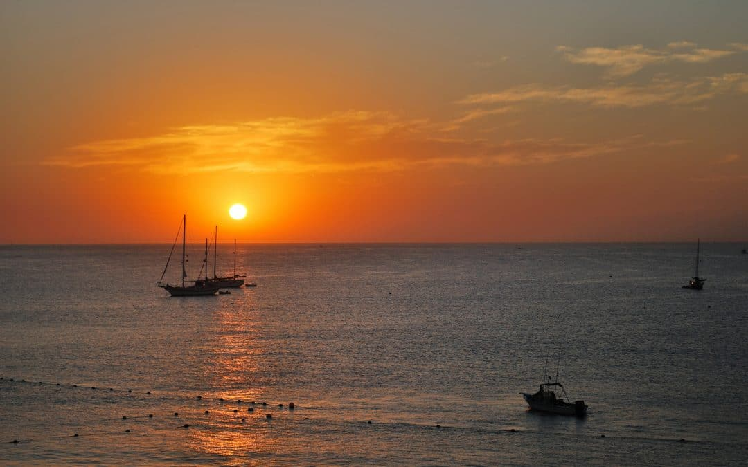 Sunset in the Sea of Cortez, Cabo San Lucas,